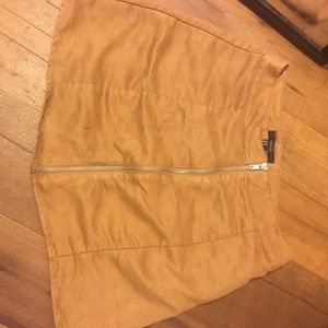 Brown suede skirt from Forever 21